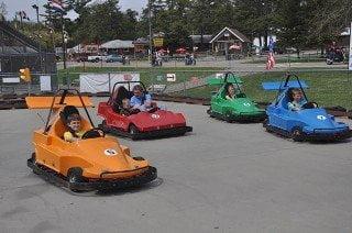 kids racing go-karts